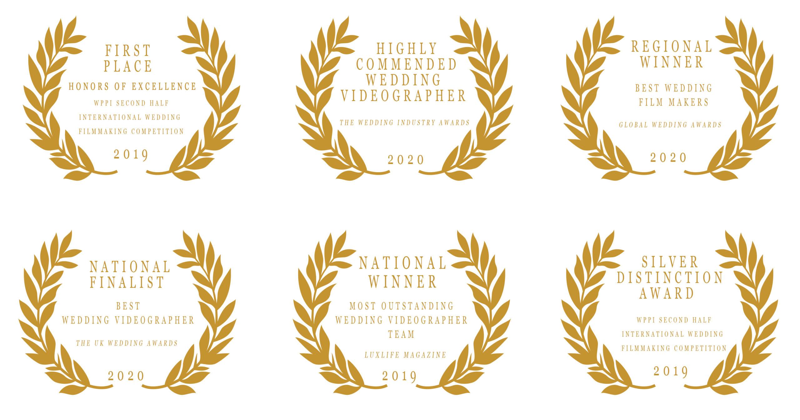 Award winning wedding films